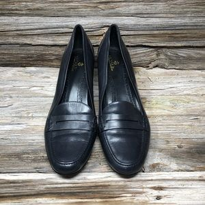 Brooks Brothers Leather Loafer Pumps Black 10